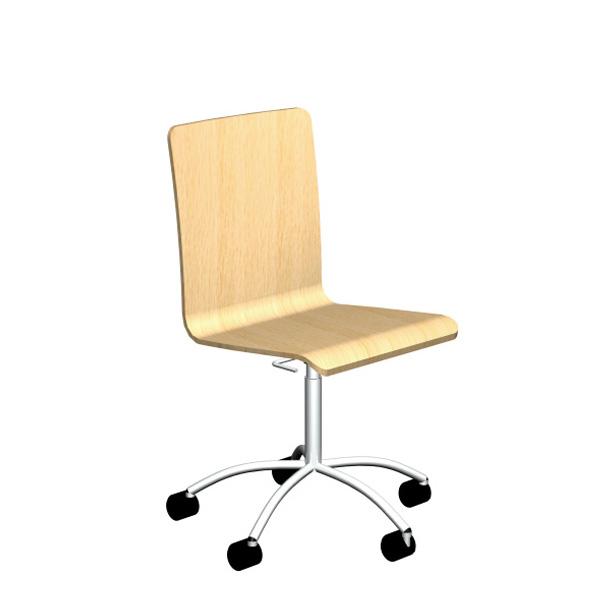Cadeira RETA rodada