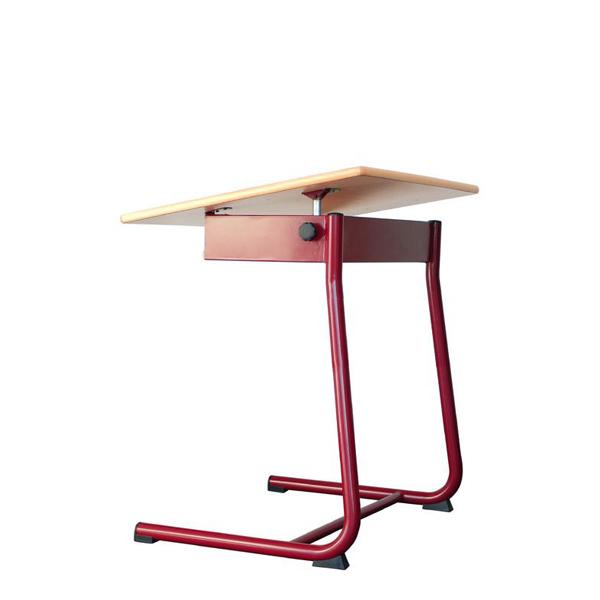 Mesa individual UNI_STEP com tampo inclinável