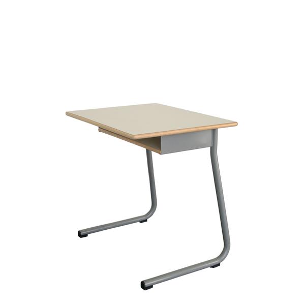 Mesa individual UNI com subtampo em madeira
