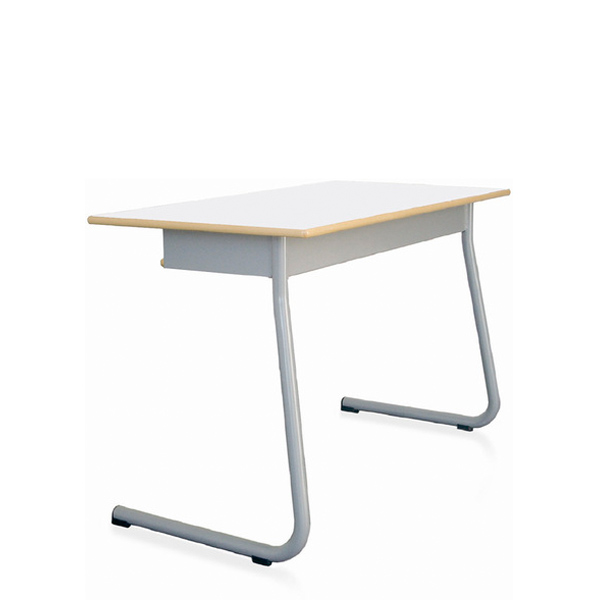 Mesa dupla UNI com subtampo em madeira