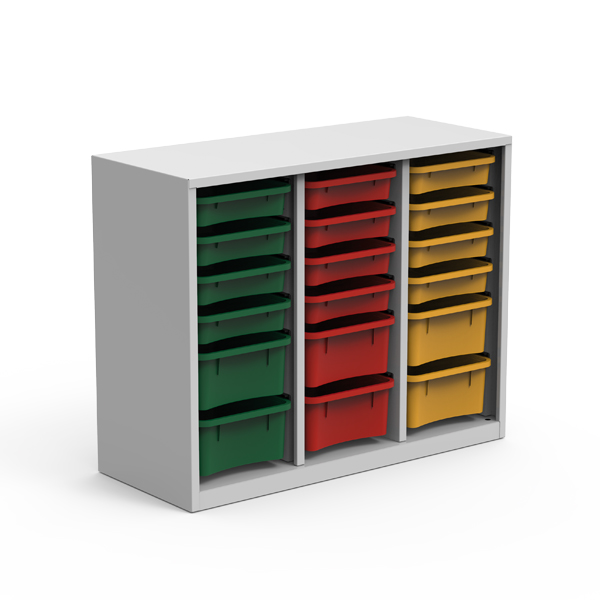 Metallic Cabinet, 3 columns, 12 trays - LN 33