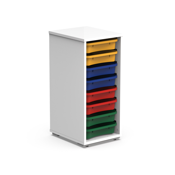 Wooden Cabinet, 1 column, 8 trays - MM11