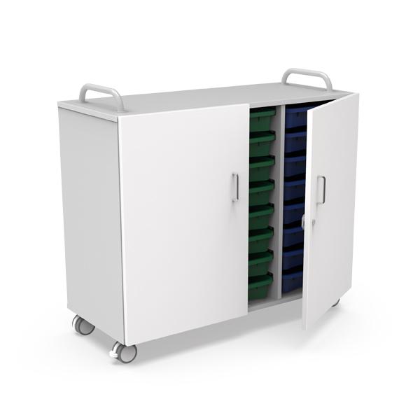 Melamine Cabinet, 3 columns, 24 trays- MM 31RP